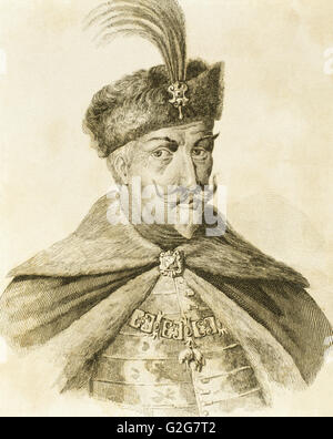 Matthias I Corvinus (1440-1490). King of Hungary and Croatia (1458-1490). Engraving. - Stock Photo