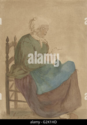 Old Woman Reading, Jurriaan Cootwijck, Gabriël Metsu, 1760 - Stock Photo