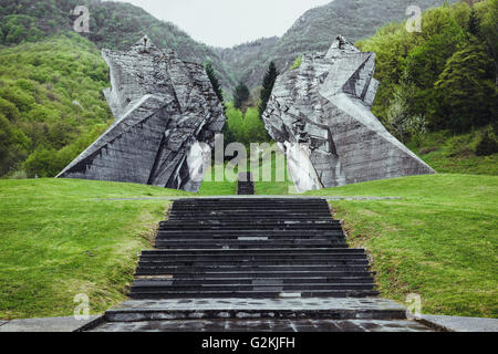 Bosnia and Herzegovina, Tjentiste, Monument, Valley of Heroes, Battle of Sutjeska - Stock Photo