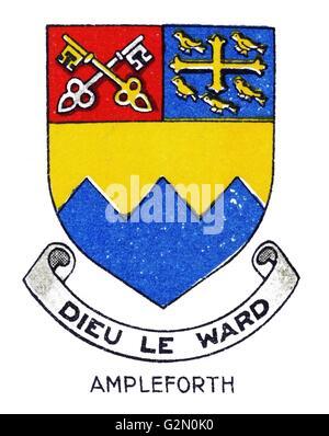Emblem of Ampleforth College, North Yorkshire, England - Stock Photo