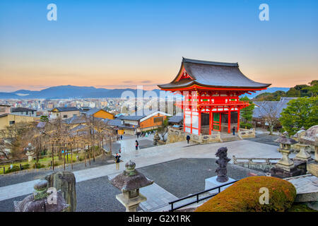 Kyoto, Japan- December 31, 2015: Kiyomizu-dera is an independent Buddhist temple in eastern Kyoto. The temple is - Stock Photo