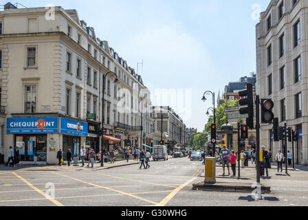 Gloucester Road in Central London is a popular tourist spot close to museums including the Natural History Museum - Stock Photo