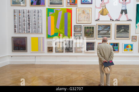 Royal Academy of Arts, London, UK. 7th June 2016. Press View for the Summer Exhibition, the world's largest open - Stock Photo