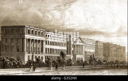 York Terrace,  Marylebone, City of Westminster, London, England, 19th century - Stock Photo