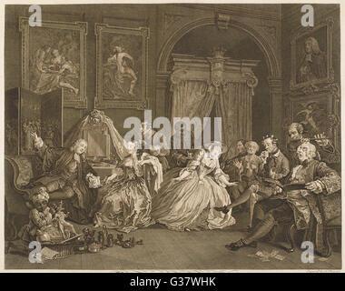 4. Toilette scene          Date: 1745 - Stock Photo