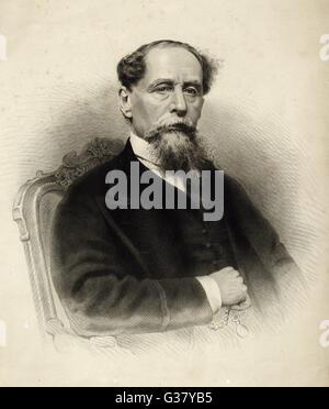 Charles Dickens(1812-1870), English writer. - Stock Photo