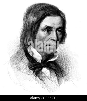JAMES HENRY LEIGH HUNT  English poet and essayist        Date: 1784 - 1859 - Stock Photo