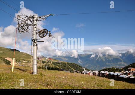 La Plagne in French Alps - Stock Photo