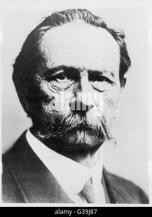CARL FRIEDRICH BENZ  German engineer and pioneer  in the construction of motor  vehicles      Date: 1844 - 1929 - Stock Photo