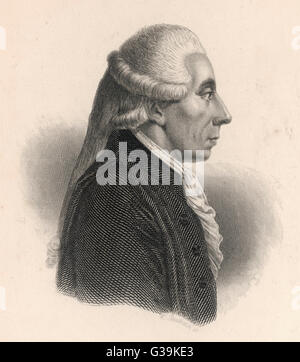 JEAN SYLVAIN BAILLY  French astronomer who computed the orbit for Halley's Comet, and first Mayor of Paris in 1789 - Stock Photo
