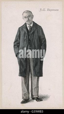 JORIS-KARL HUYSMANS  French novelist, of Dutch descent       Date: 1848 - 1907 - Stock Photo