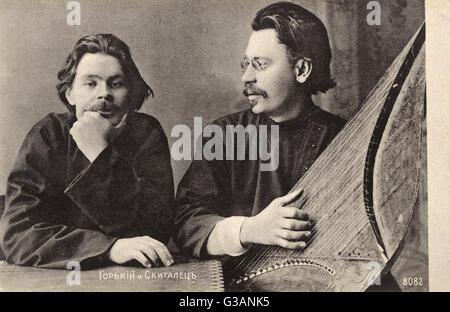 Alexei Maximovich Peshkov (Maxim Gorky) (1868-1936), Russian and Soviet writer, a founder of the Socialist Realism - Stock Photo