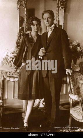 The official engagement photograph (taken on 21st September 1926) of Princess Astrid of Sweden, born Astrid Sofia - Stock Photo