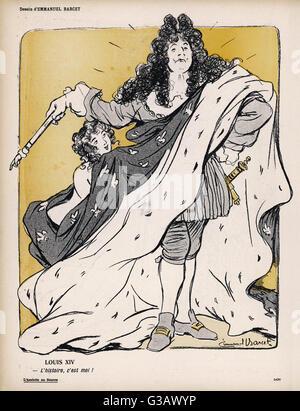 LOUIS XIV  'L'histoire, c'est moi !'        Date: 1638-1715 - Stock Photo
