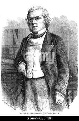 WILLIAM MAKEPEACE THACKERAY author of 'Vanity Fair' etc.         Date: 1811 - 1863 - Stock Photo