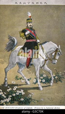 Mikado Emperor Meiji of Japan Emperor Meiji (18521912) (Meiji the Great) - the 122nd Emperor of Japan. Pictured - Stock Photo