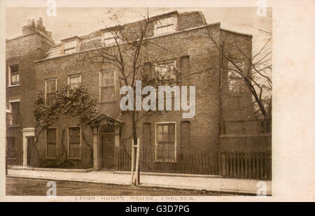 The Home of James Henry Leigh Hunt (19 October 1784  28 August 1859), best known as Leigh Hunt, was an English critic, - Stock Photo
