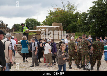 Bovington, Dorset, UK. 25th June 2016. Tankfest military show.  Tiger I, german WWII tank  featured in the film - Stock Photo