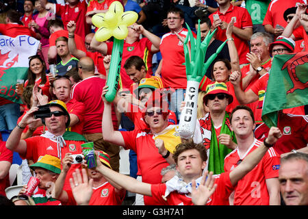 Paris, France. 25th June, 2016. UEFA European Football Championships. Last 16 round, Wales versus Northern Ireland. - Stock Photo