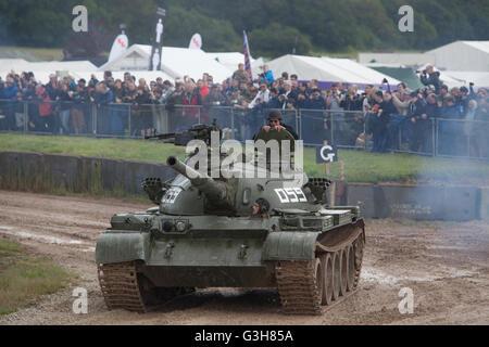Bovington, Dorset, UK. 25th June 2016. Tankfest military show. TYPE 59, Chinese copy of Russian T54 tank in main - Stock Photo