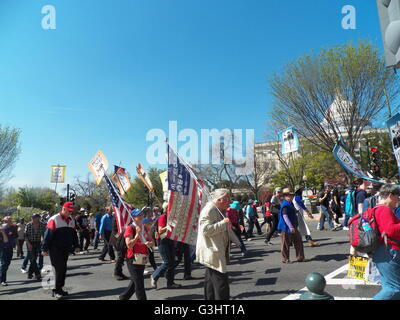 Washington, United States. 17th Apr, 2016. Democracy Awakening is a continuation and follow up to Democracy Spring. - Stock Photo