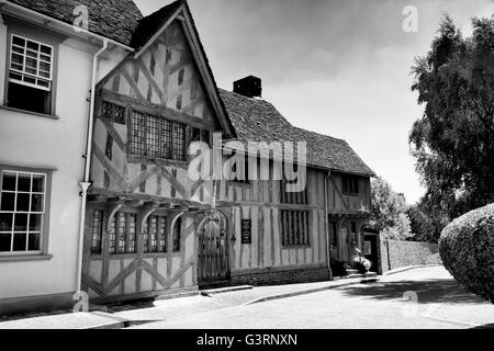 Little Hall Museum, Barn Street, Lavenham, Suffolk, UK - Stock Photo
