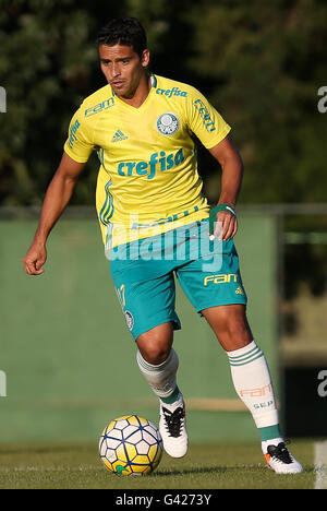 Sao Paulo, Brazil. 06th July, 2016. TRAINING OF TREES - The player Jean, the SE Palmeiras, during training, the - Stock Photo