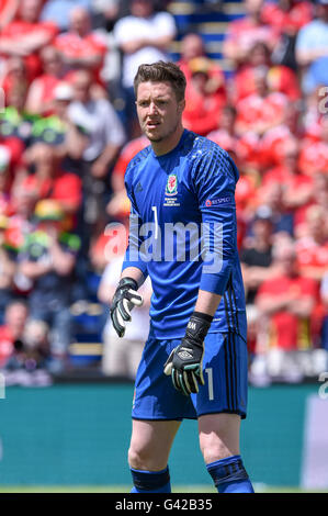 Wayne Hennessey (Galles)                ;  June 16; 2016- Football : Uefa Euro France 2016  Group Stage-MD2 ; Group - Stock Photo