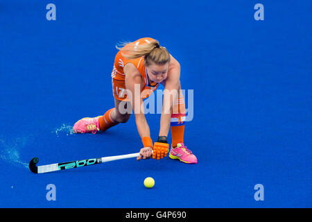 London, UK. 18th June, 2016. Maartje Paumen of Netherlands was in action during the Hockey Women's Champions Trophy - Stock Photo