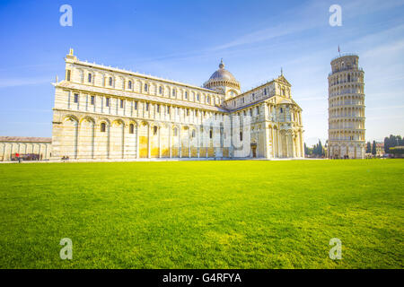 The Leaning Tower of Pisa in Italy. - Stock Photo