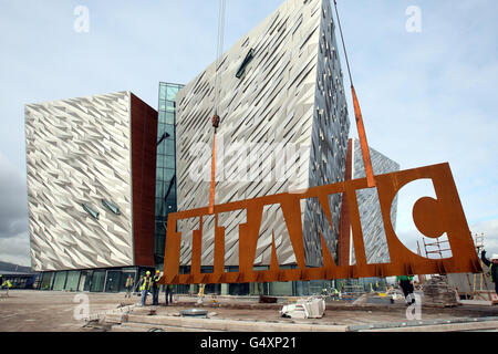 Titanic Belfast visitor attraction - Stock Photo