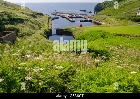 United Kingdom, Scotland, Highlands, Lybster, Lybster of Caithness in northern Scotland, Former fishing port - Stock Photo