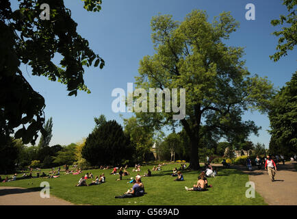 Spring weather - May 28 - Stock Photo