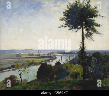 Carl Fredrik Hill - The Tree and the River III (The Seine at Bois-le-Roi) - Stock Photo