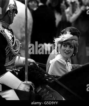 Royalty - Prince of Wales and Lady Diana Spencer Wedding - London - Stock Photo