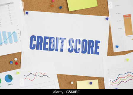 CHART BUSINESS GRAPH RESULT COMPANY CREDIT SCORE CONCEPT - Stock Photo