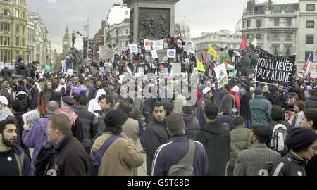 British Muslims hold a demonstration in central London - Stock Photo