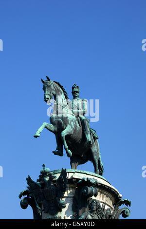 Monument to Nicholas I, St. Isaac's Ploshchad, Saint Petersburg, Russia - Stock Photo