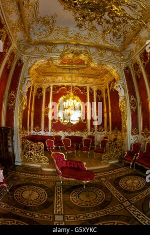 Boudoir of Empress Maria Alexandrovna, Winter Palace, State Hermitage Museum, Saint Petersburg, Russia - Stock Photo