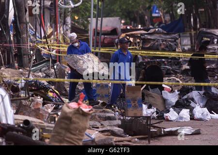 Bali bomb debris - Stock Photo