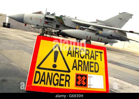 British Royal Air Force Tornado GR4 - Stock Photo