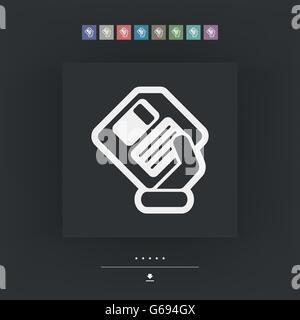Saving data icon - Stock Photo