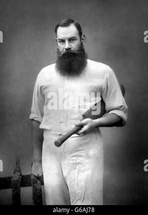 W. G. Grace, (William Gilbert Grace: 1848-1915). Portrait by Herbert Rose Barraud, late 1880s. - Stock Photo