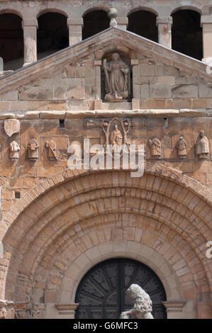 Colegiata y Claustro de Santa Juliana (Collegiate Church). Santillana del Mar. Cantabria. Spain. - Stock Photo