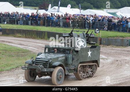 Bovington, Dorset, UK. 25th June 2016. Tankfest military show. American halftrack M16 Multiple Gun Motor Carriage - Stock Photo