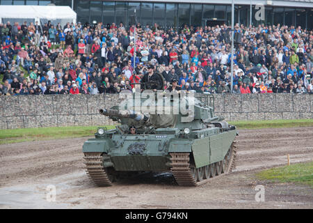 Bovington, Dorset, UK. 25th June 2016. Tankfest military show. Centurion Mk12 in main arena with large crowd. Event - Stock Photo