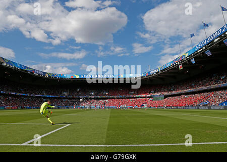 Paris, France. © D. 25th June, 2016. General view Football/Soccer : UEFA EURO 2016 Round of 16 match between Wales - Stock Photo