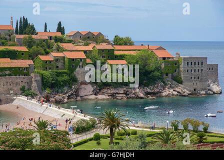 Sveti Stefan (St. Stefan) near Budva, Montenegro - Stock Photo