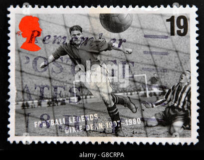 UNITED KINGDOM - CIRCA 1993: A stamp printed in Great Britain dedicated to Football Legends, shows Dixie Dean, circa - Stock Photo