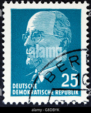 GDR - CIRCA 1961: post stamp printed in German Democratic Republic - East Germany shows Chairman Walter Ulbricht - Stock Photo